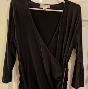 Michael Kors black wrap shirt